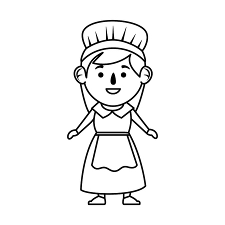 pilgrim woman character icon vector illustration design  イラスト・ベクター素材