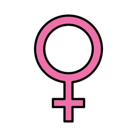 femenine gender symbol icon vector illustration design Illustration