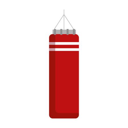 push bag boxing sport vector illustration design