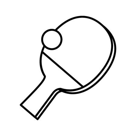table tennis sport icons vector illustration design