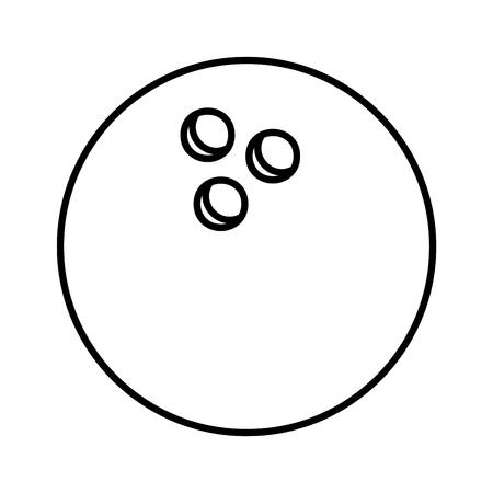 bowling ball sport icon vector illustration design Illusztráció