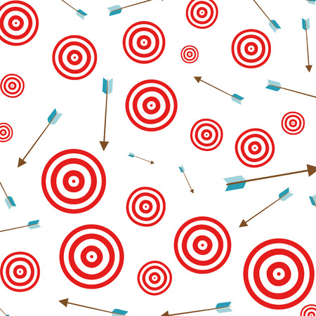 target with arrow pattern vector illustration design