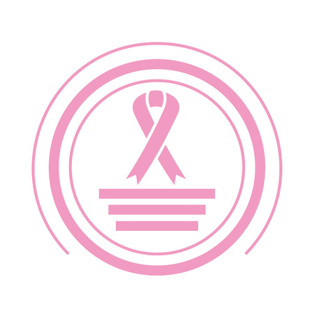 pink ribbon breast cancer vector illustration design