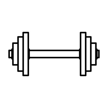 weight lifting dumbbell sport fitness vector illustration design Reklamní fotografie - 109401036