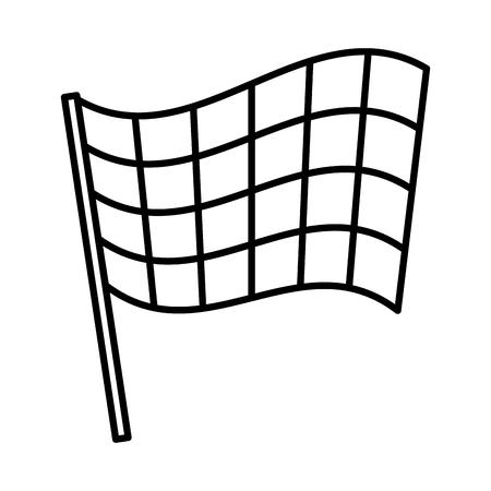sport flag isolated icon vector illustration design 일러스트