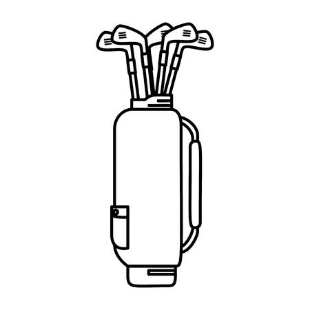 sac de golf avec des clubs de conception d & # 39; illustration vectorielle