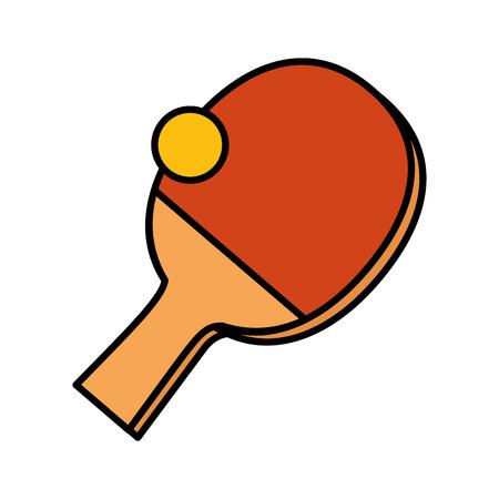 Ping-pong sport icone illustrazione vettoriale design