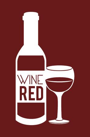 Drinks design over red background,vector illustration