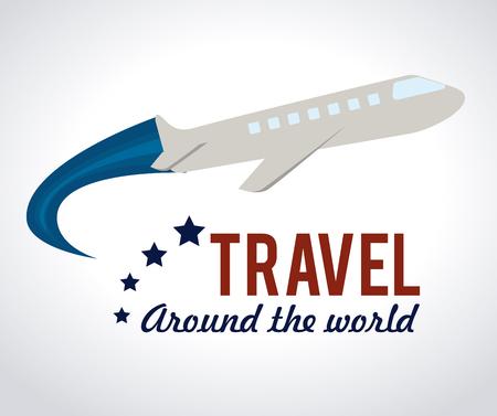 Travel design over white background, vector illustration