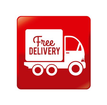 Delivery design over red background, vector illustration  イラスト・ベクター素材