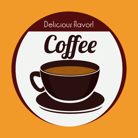 Coffee design over yellow background, vector illustration