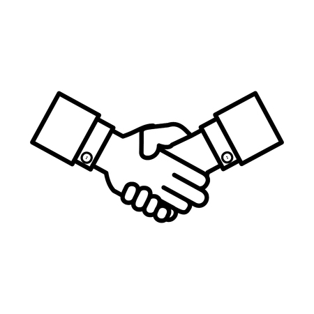 business hands done deal vector illustration design  イラスト・ベクター素材