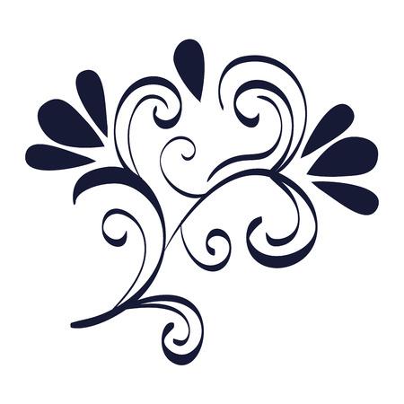 floral frame victorian style vector illustration design Banque d'images - 109593674