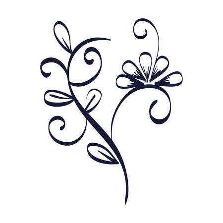 floral frame victorian style vector illustration design