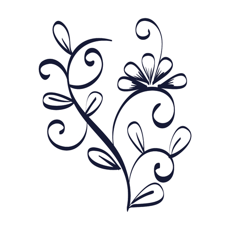 floral frame victorian style vector illustration design