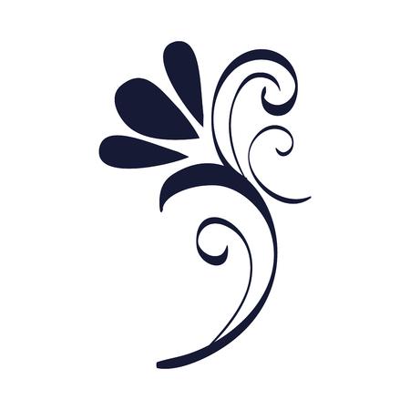 kwiatowy rama w stylu wiktoriańskim projekt ilustracji wektorowych Ilustracje wektorowe
