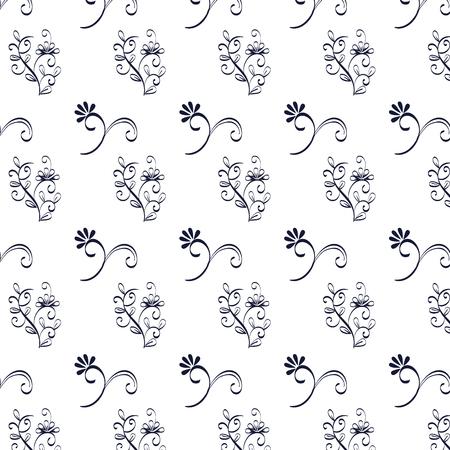floral frame victorian style pattern vector illustration design Standard-Bild - 109593729