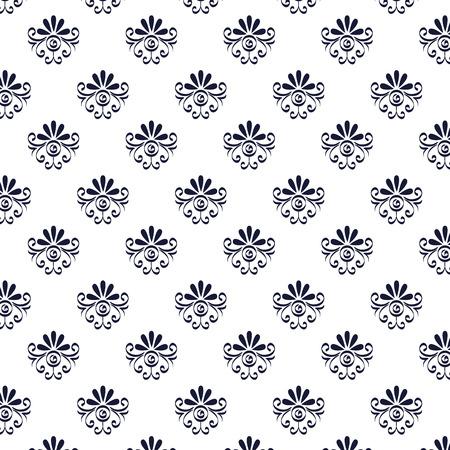 floral frame victorian style pattern vector illustration design Vectores