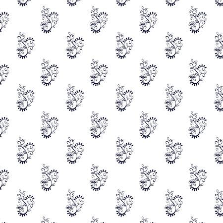 floral frame victorian style pattern vector illustration design Illustration
