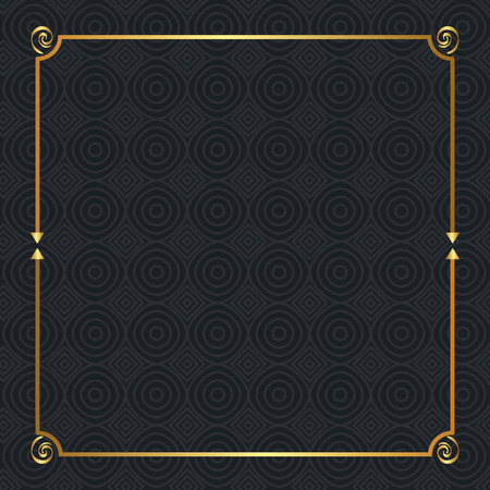 elegant square golden frame vector illustration design