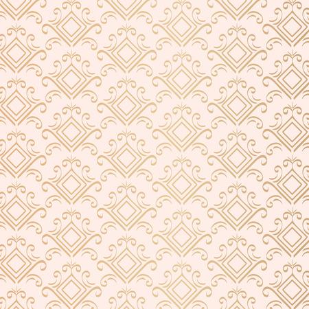 golden pattern victorian style vector illustration design Illustration