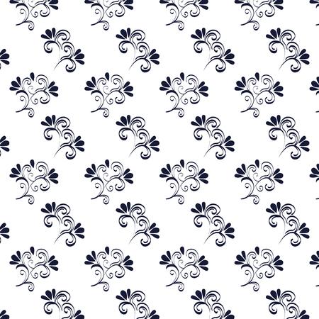 floral frame victorian style pattern vector illustration design Standard-Bild - 109606856