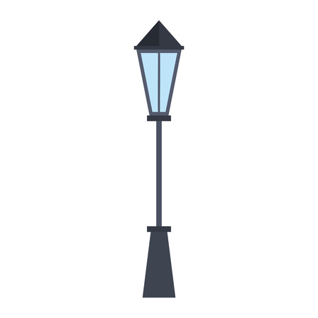 park lamp isolated icon vector illustration design Illustration