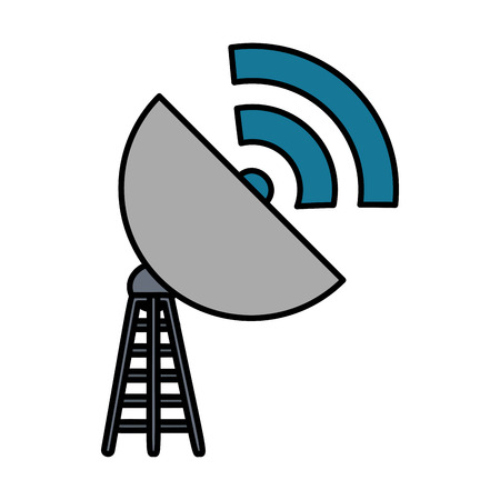antena with wifi signal vector illustration design