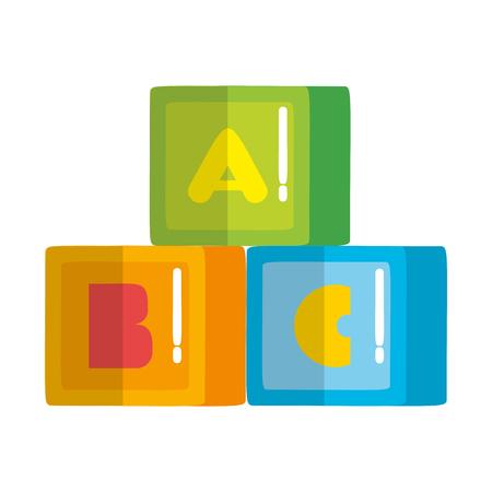 alphabet cubes blocks toys vector illustration design 일러스트