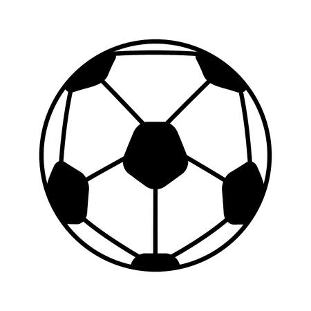 soccer balloon isolated icon vector illustration design Çizim