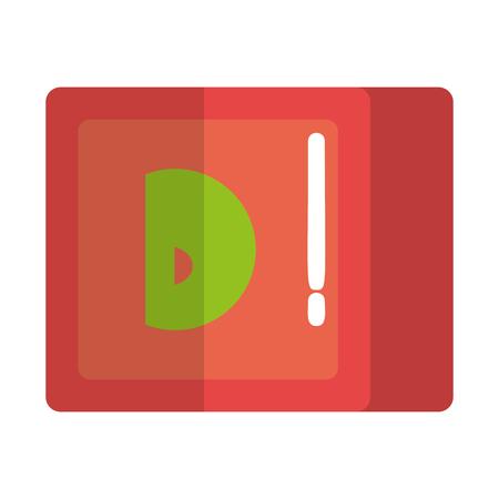 alphabet cube block toy vector illustration design Ilustração