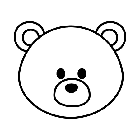 cute bear teddy icon vector illustration design