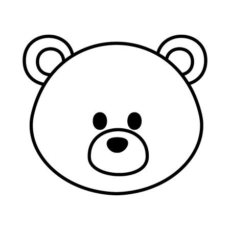 Ours mignon nounours icône vector illustration design