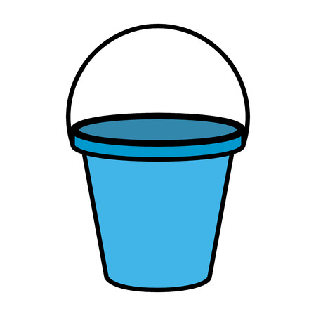 plastic sand bucket icon vector illustration design Stock Illustratie