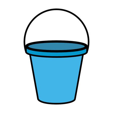 plastic sand bucket icon vector illustration design Illustration