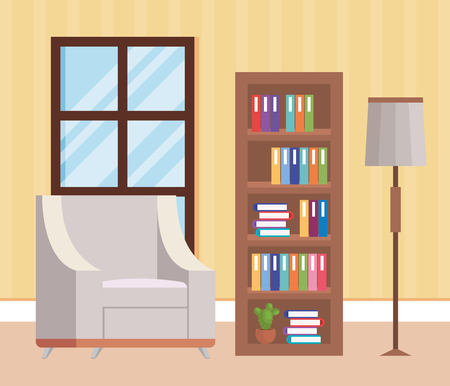 living room place with sofa vector illustration design Stock Vector - 109620953