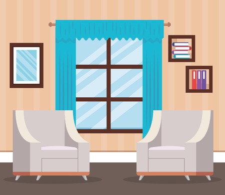 living room place with sofa vector illustration design Ilustração