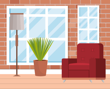 living room place with sofa vector illustration design Stock Vector - 109620961