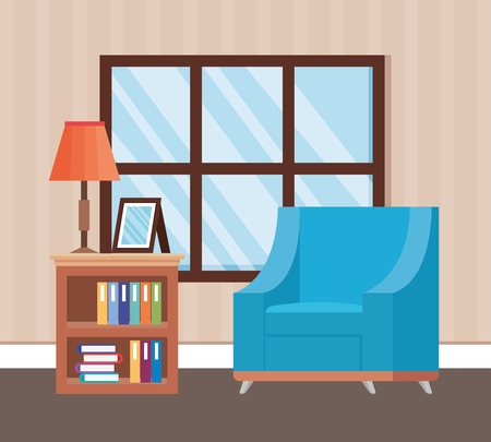 living room place with sofa vector illustration design Foto de archivo - 109620962