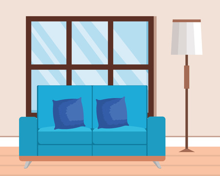 living room place with sofa vector illustration design Stock Vector - 109620963