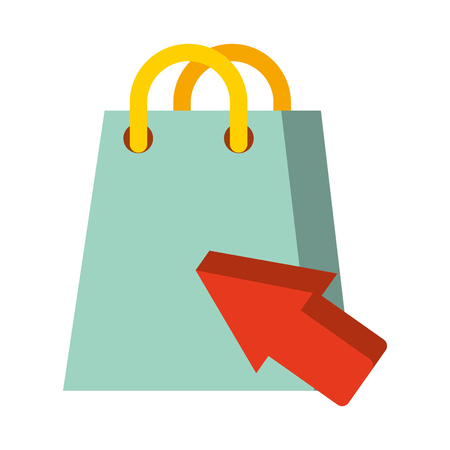 shopping bag click nfc payment vector illustration Illustration
