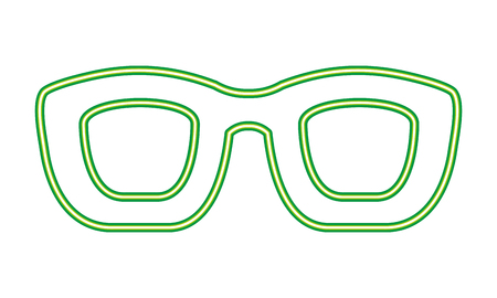 neon glasses accessory frame party vector illustration