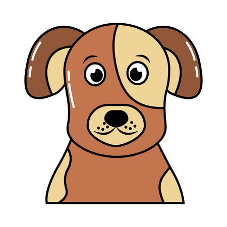 cute pet animal dog isolated image vector illustration Ilustração