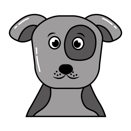 cute pet animal dog isolated image vector illustration Illustration