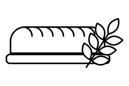 fresh loaf wheat leaves food bakery vector illustration Standard-Bild - 109682954