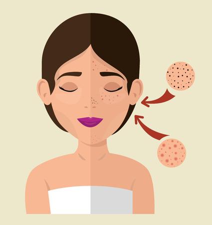 beautiful woman in treatment facial vector illustration design Standard-Bild - 109753621