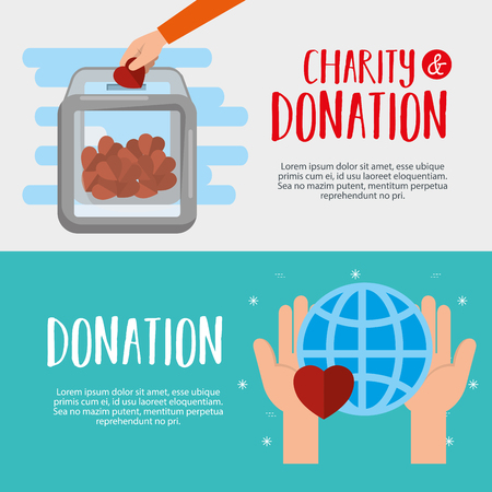 urn with money charity donation vector illustration design