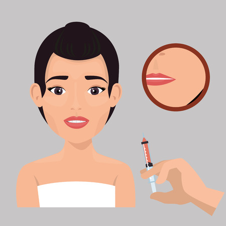 woman with facial treatment vector illustration design