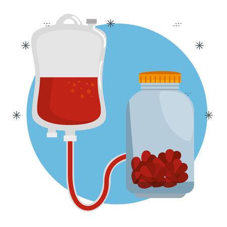 mason jar with hearts charity donation vector illustration design