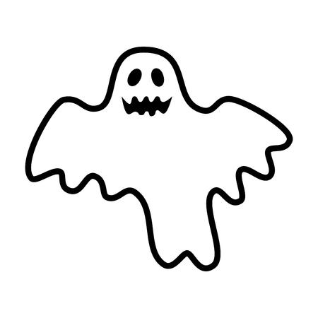 Feliz halloween fantasma ilustración vectorial diseño de personajes